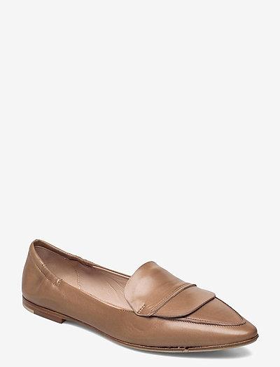 Romy - mokasiner - nude leather