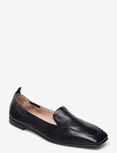 Kate - mokasiner - black leather