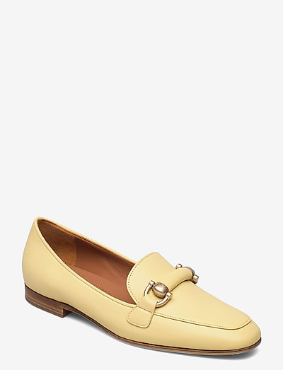 Libby - instappers - yellow leather