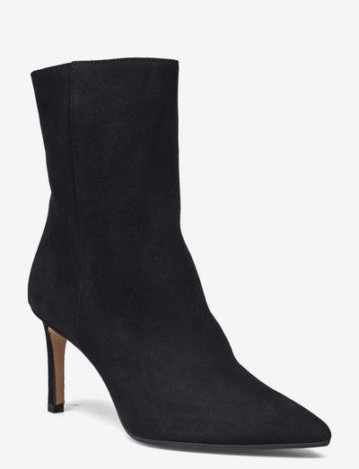 Ravna - ankelstøvler med hæl - black suede