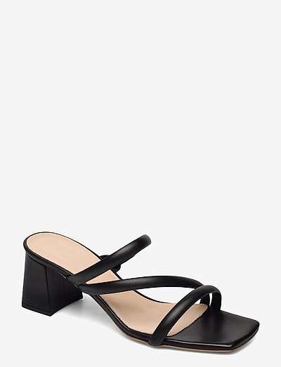 Gisele - høyhælte sandaler - black leather