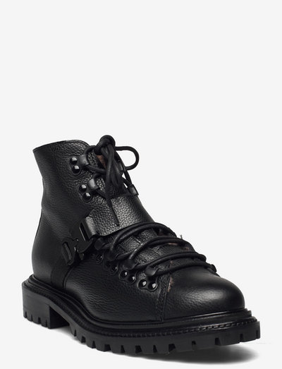Froste - flade ankelstøvler - black leather