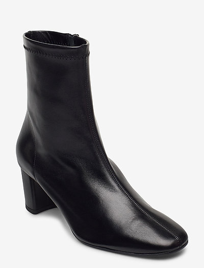 Light - ankelstøvler med hæl - black leather