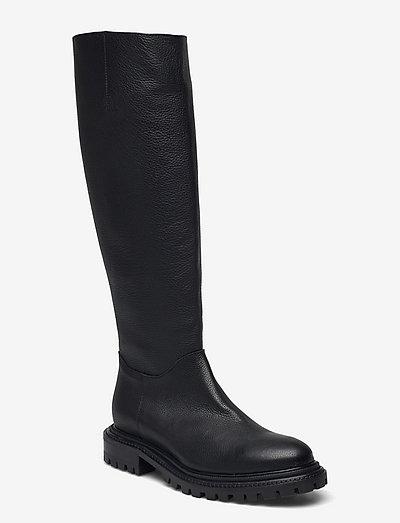 Frej - langskaftede - black leather