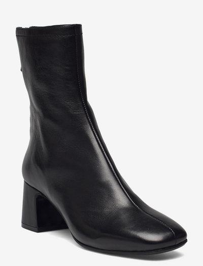 Harper II - ankelstøvler med hæl - black leather