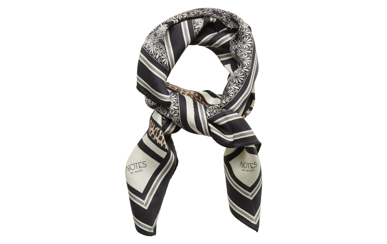 Notes du Nord Lina Silk Scarf - LEOPARD