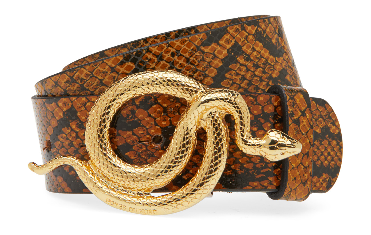 Notes du Nord Milo Leather Belt Snake - AUTUMN SNAKE