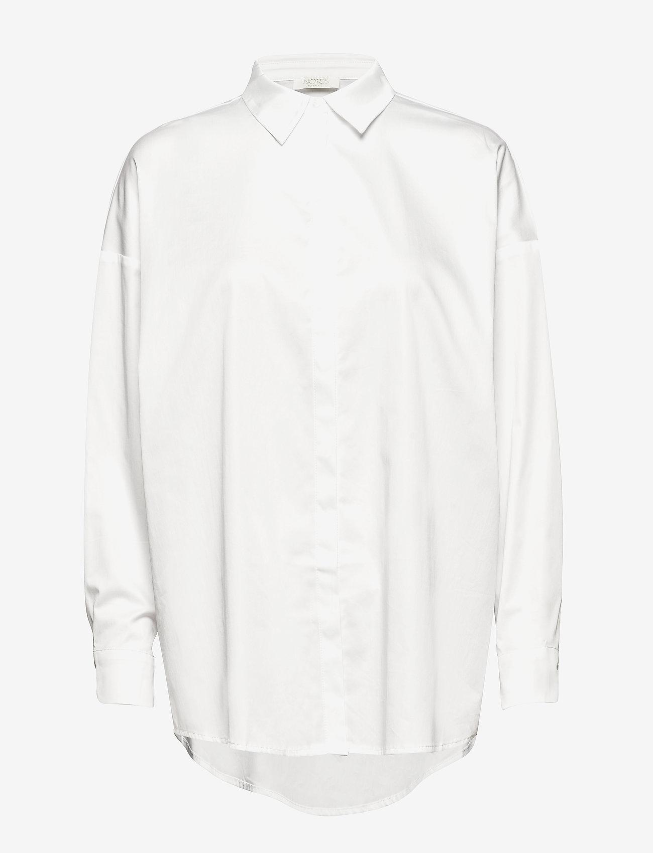Notes du Nord - Kira Shirt - långärmade skjortor - white - 0