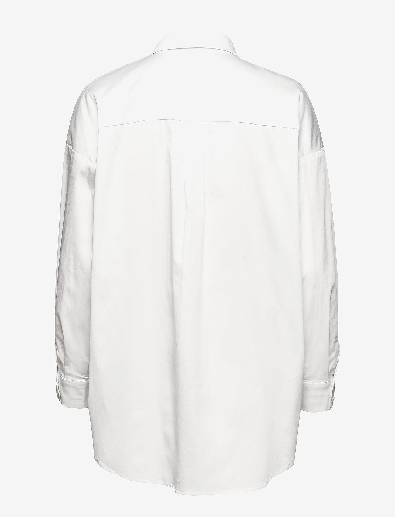 Notes du Nord - Kira Shirt - långärmade skjortor - white - 1