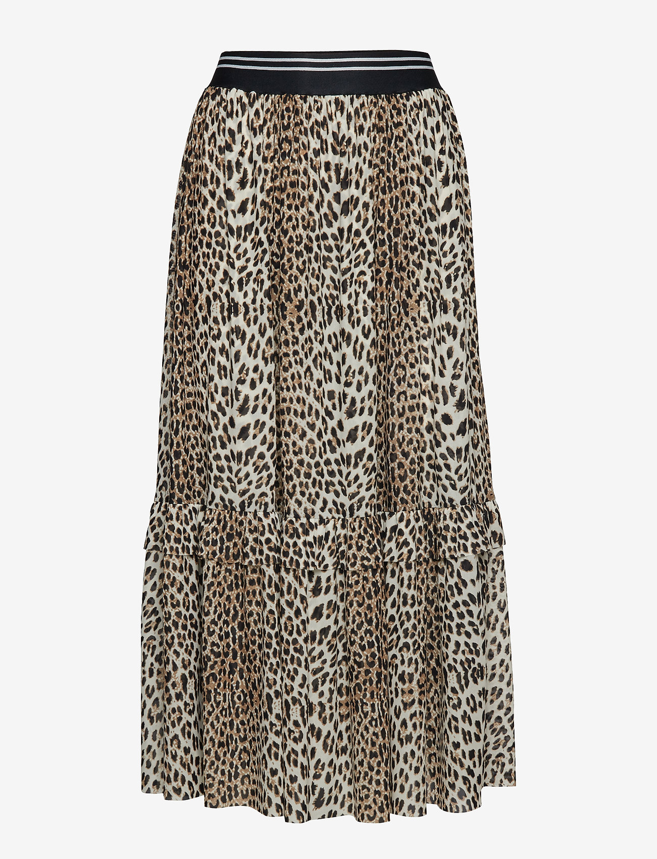Notes du Nord - Libby Skirt - midi - leopard