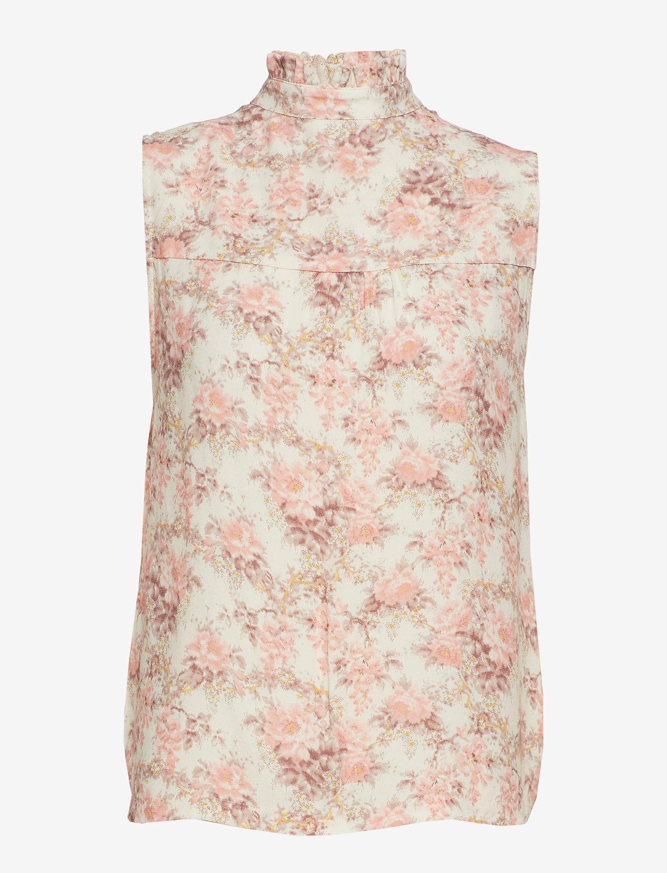 Notes du Nord - Lydia Flower Top - bluzki bez rękawów - romantic flower - 0