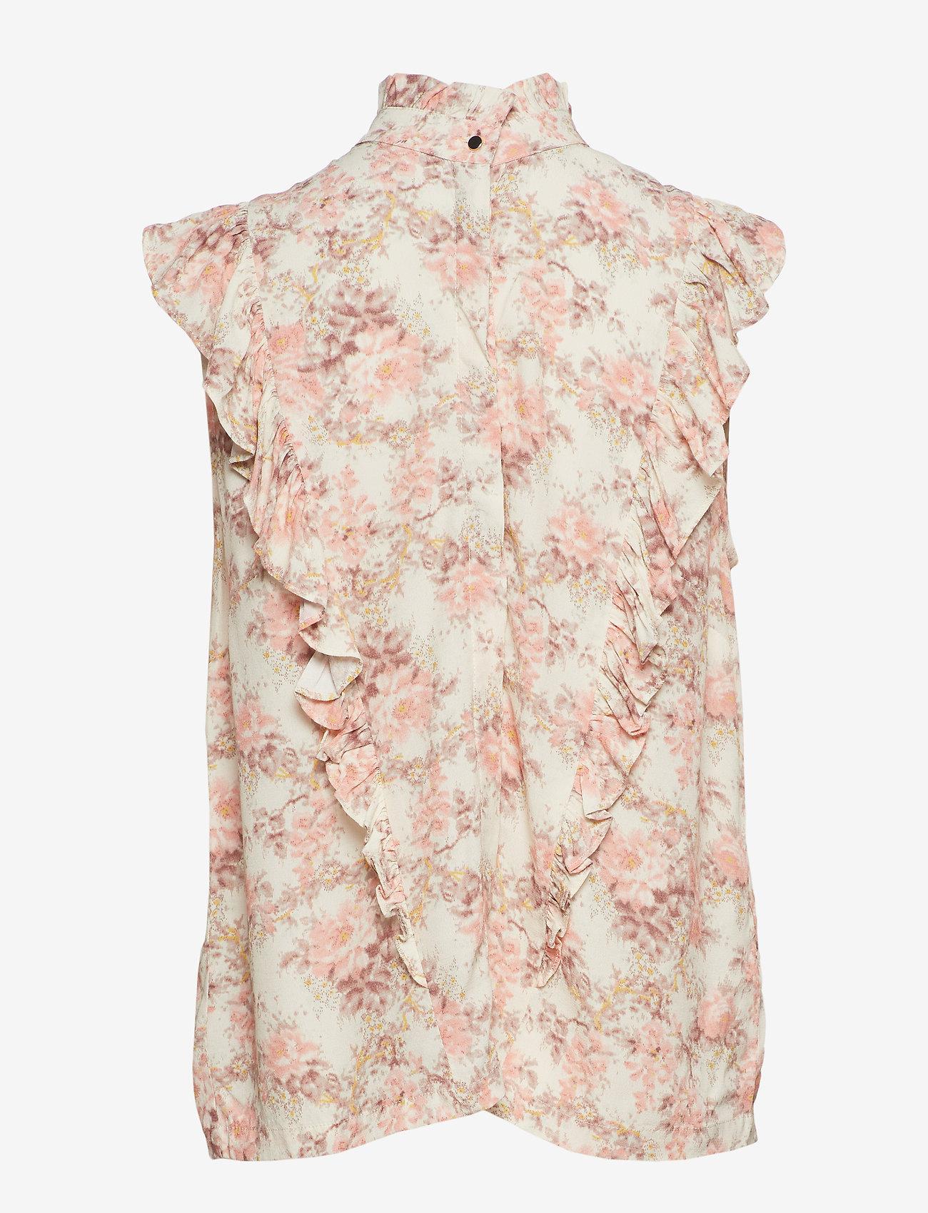 Notes du Nord - Lydia Flower Top - bluzki bez rękawów - romantic flower - 1