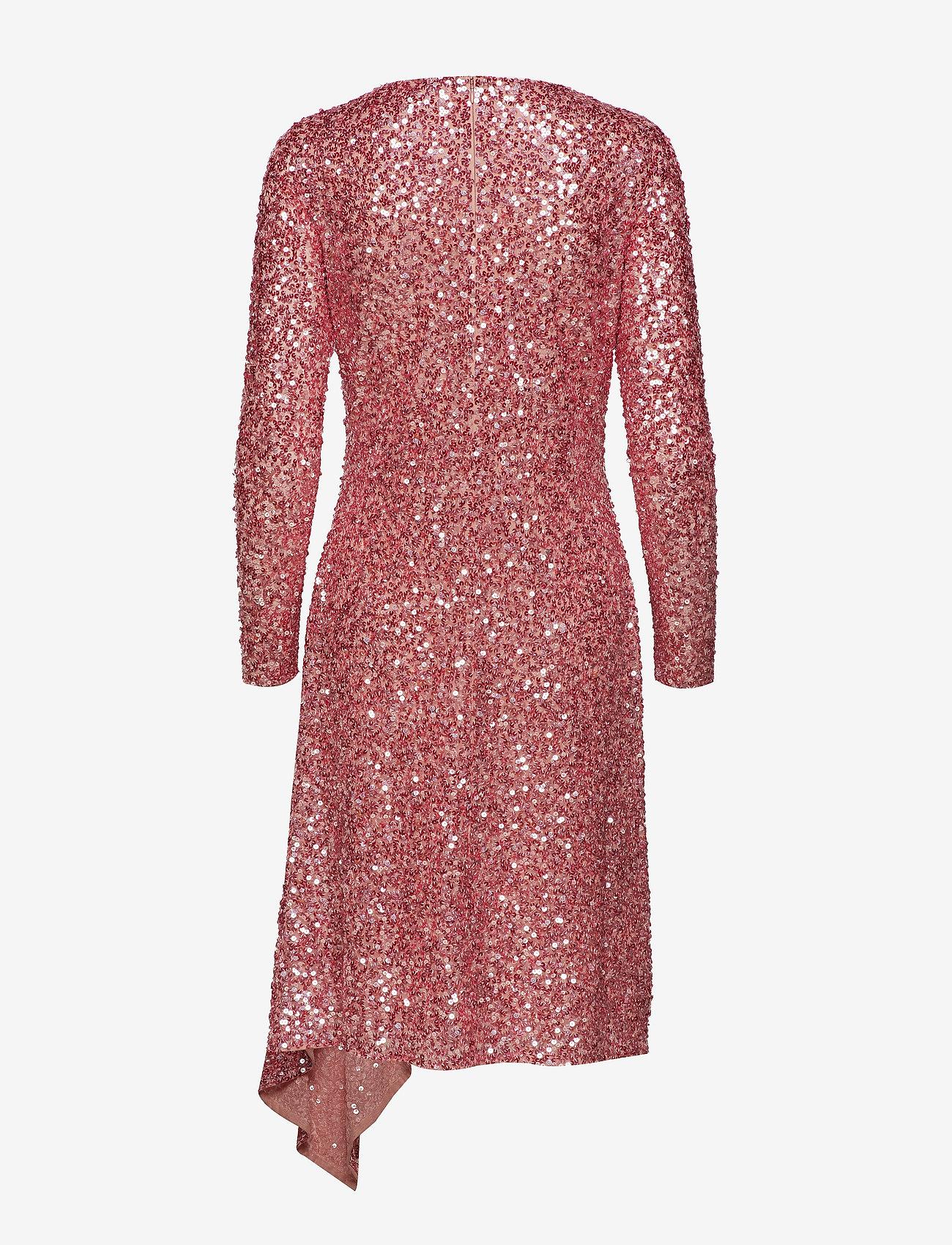 Notes Du Nord Lavish Drape Dress - Robes Pink Dream