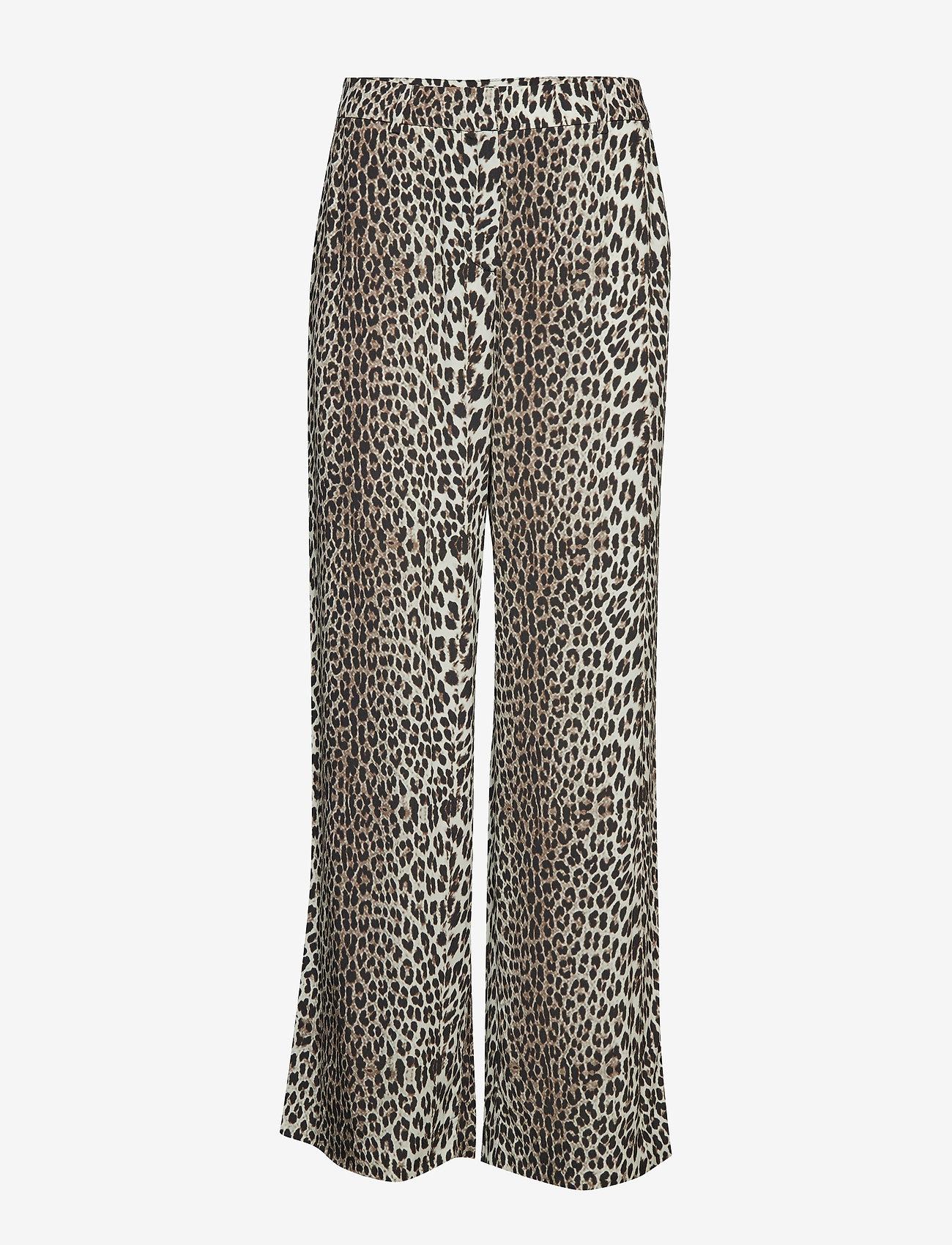 Notes du Nord - Lydia Leopard Pants - leveälahkeiset housut - leopard