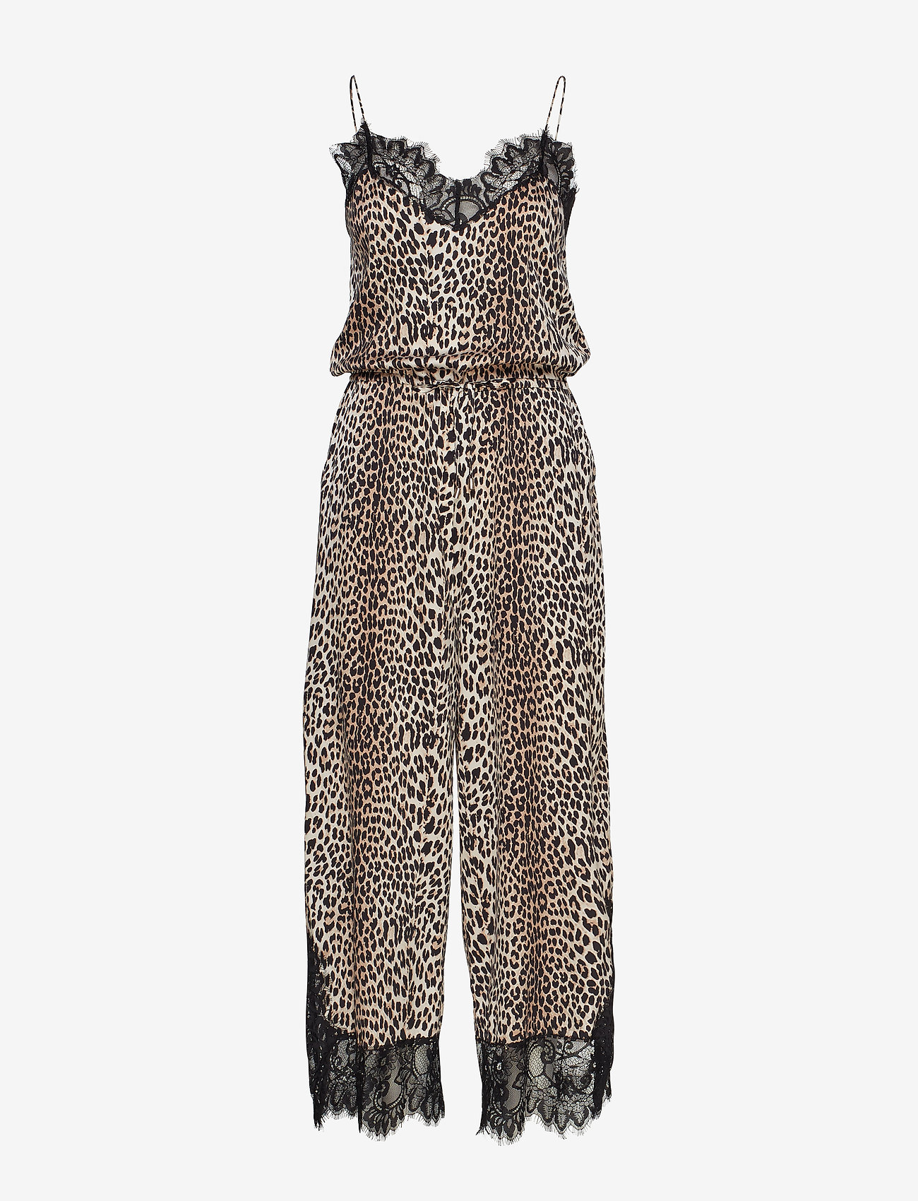 Notes du Nord - Lulu Silk Jumpsuit P - haalarit - leopard