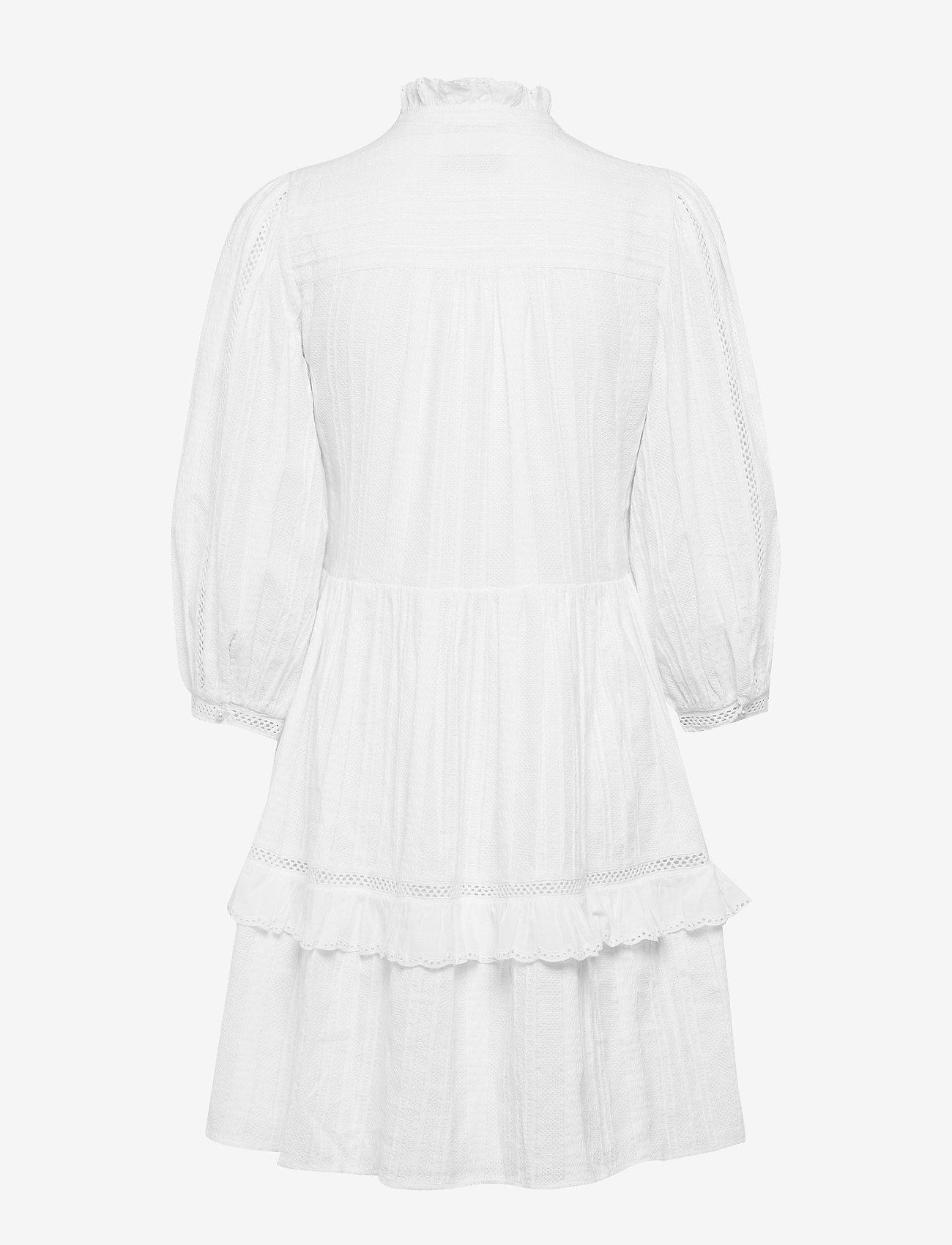Notes du Nord - Lindsey Short Dress - lyhyet mekot - white