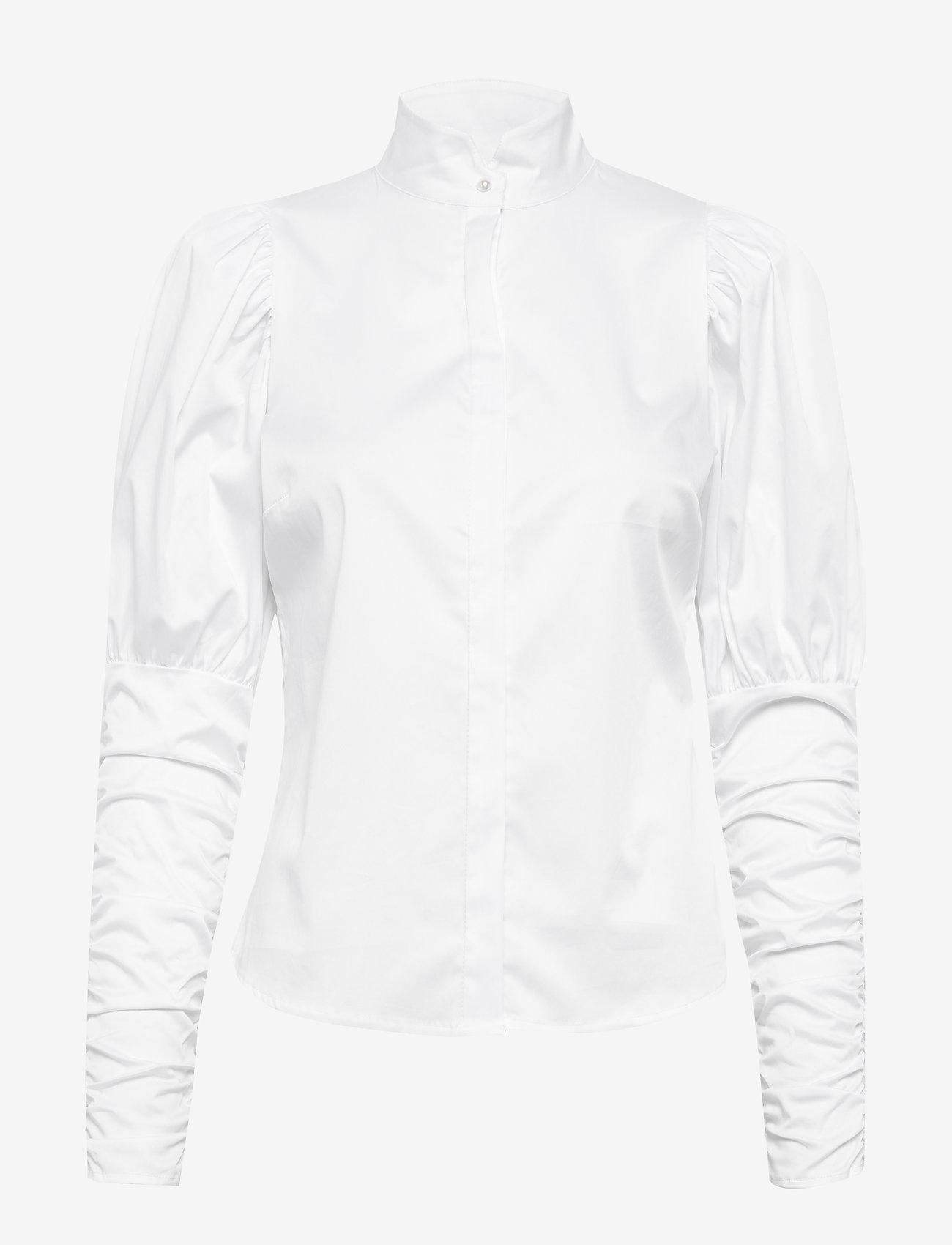 Notes du Nord - Nila Shirt - långärmade skjortor - white - 0