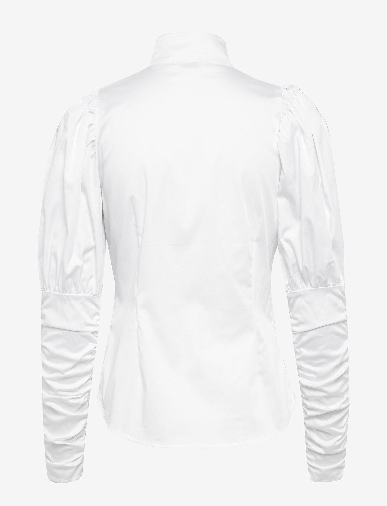 Notes du Nord - Nila Shirt - långärmade skjortor - white - 1