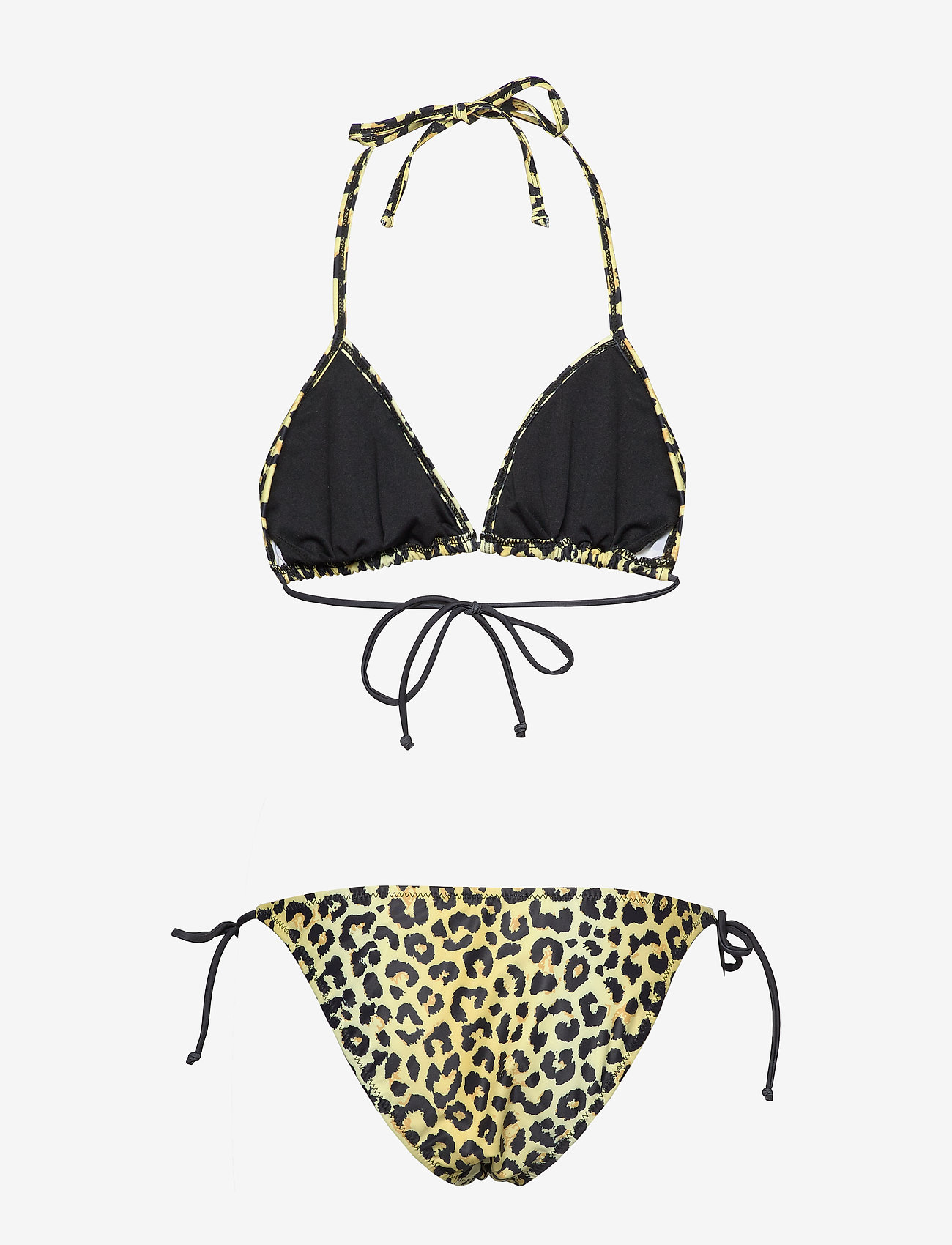 Notes du Nord - Obi Triangle Bikini - bikini set - lemon leopard - 1