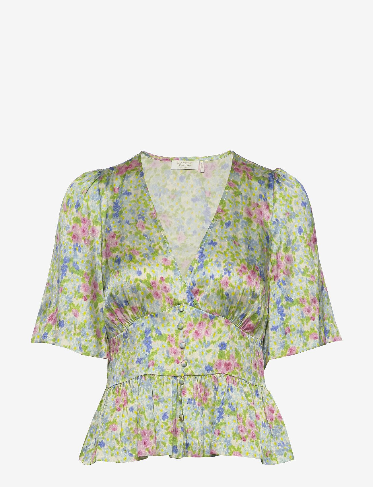 Notes du Nord Odeon Silk Top P - Bluzki & Koszule ROMANTIC FLOWER - Kobiety Odzież.