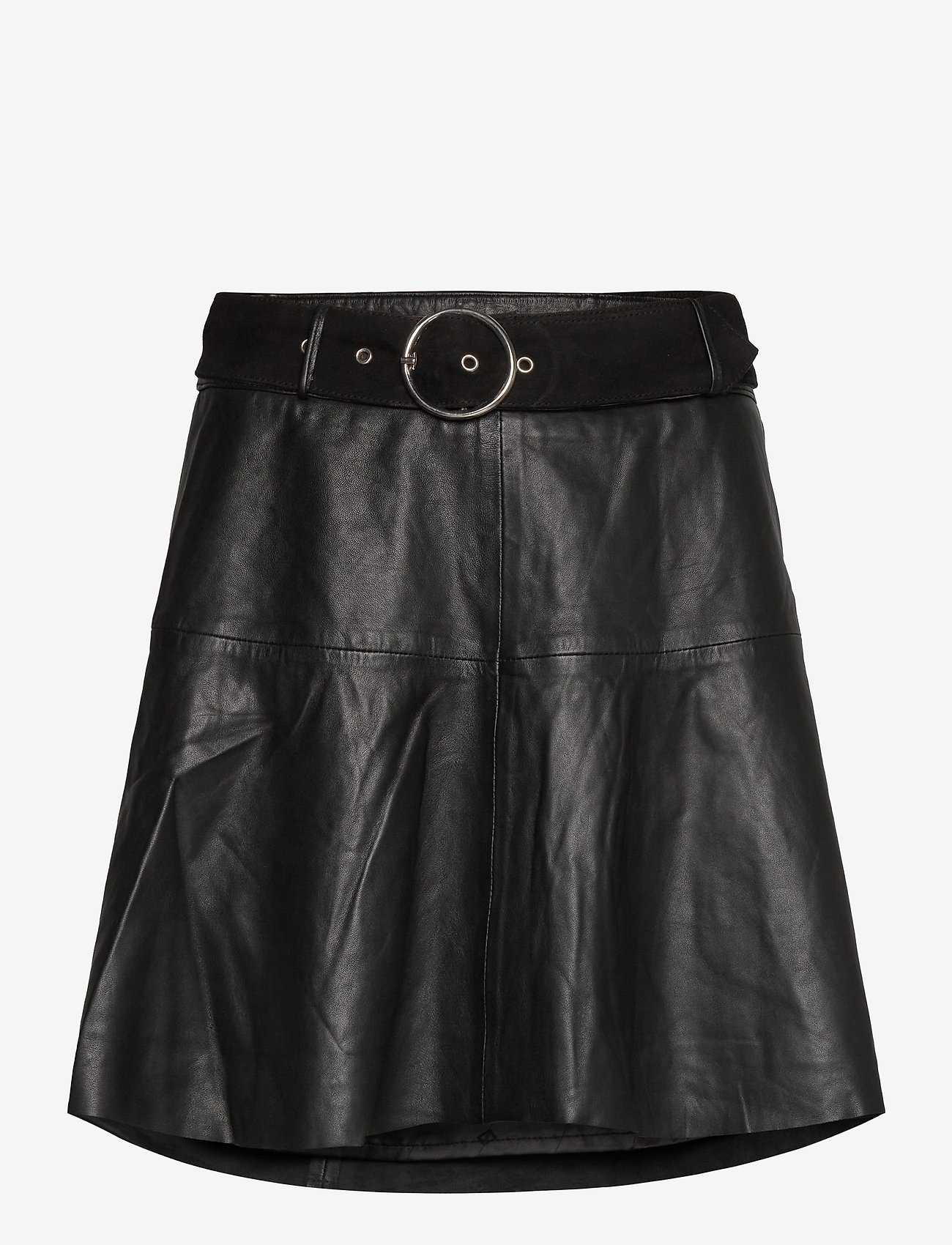 Notes du Nord - Parker Leather Skirt - korta kjolar - noir - 0