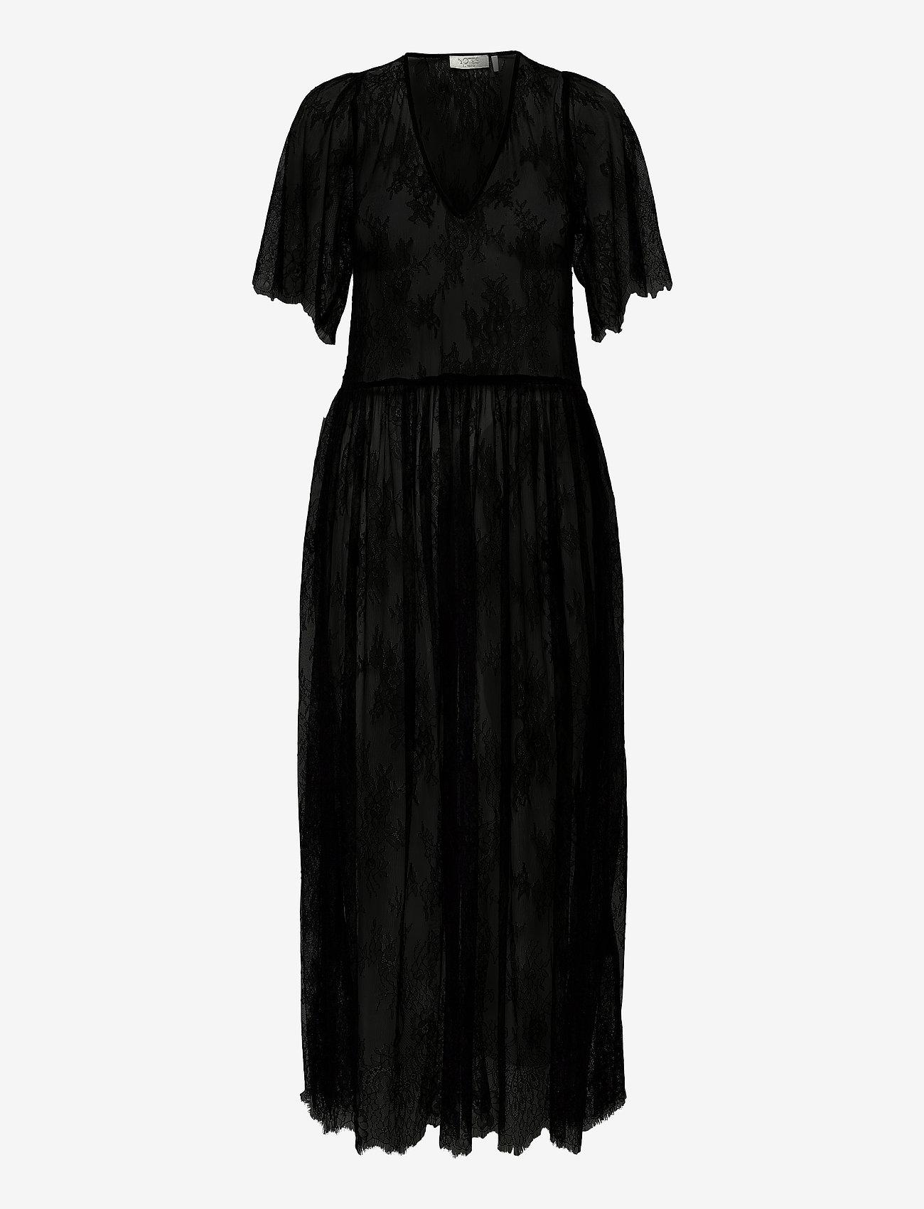 Notes du Nord - Penny Dress - midiklänningar - noir - 0
