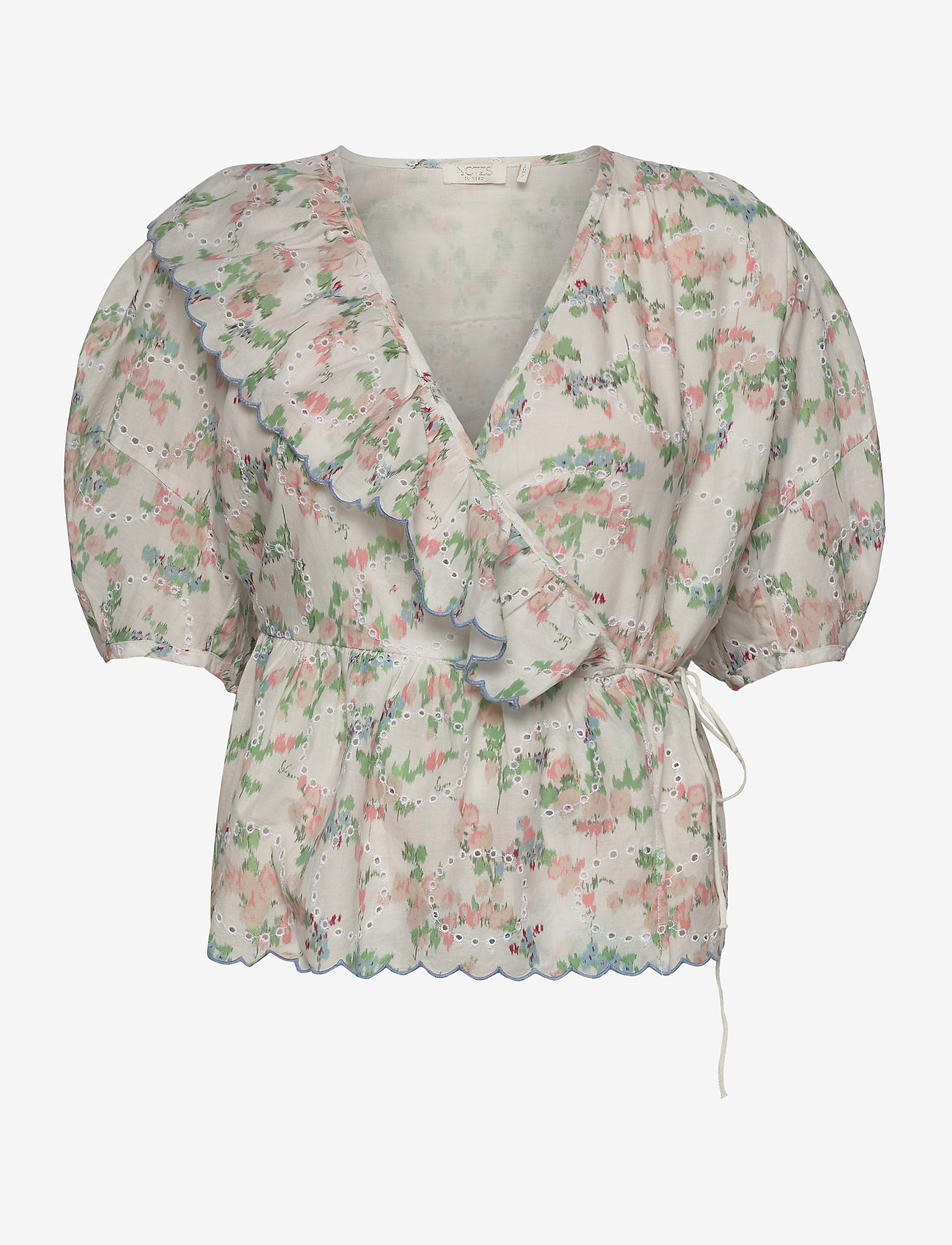 Notes du Nord - Patricia Top - kortärmade blusar - romantic flower - 0