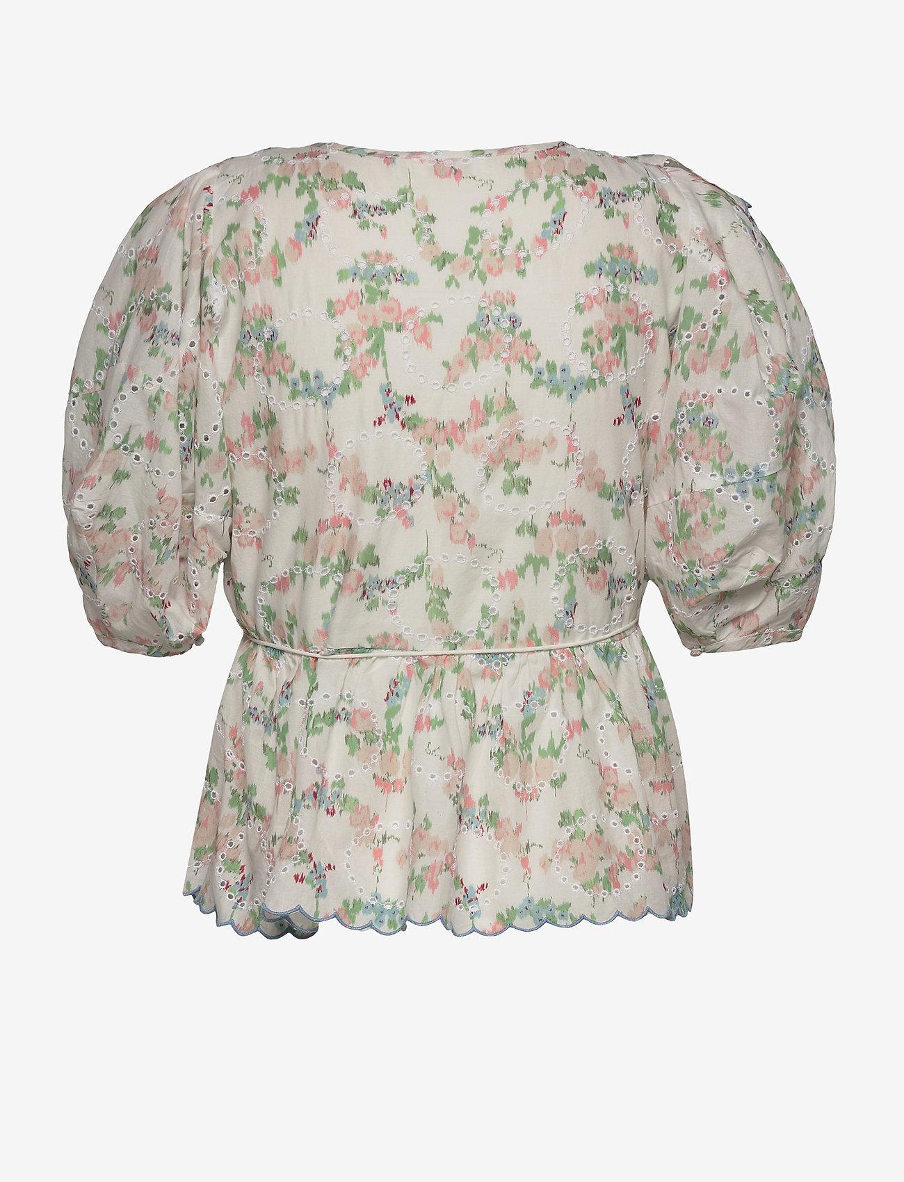 Notes du Nord - Patricia Top - kortärmade blusar - romantic flower - 1