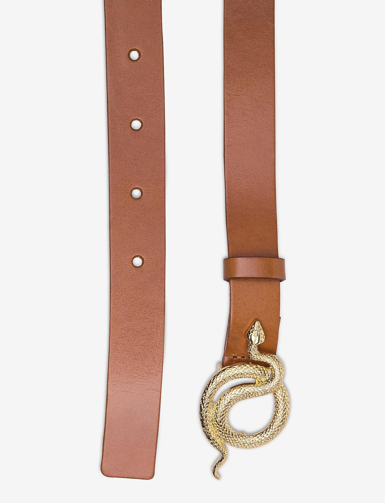 Paxton Leather Belt (Cognac/gold) (56 €) - Notes du Nord Feb2L