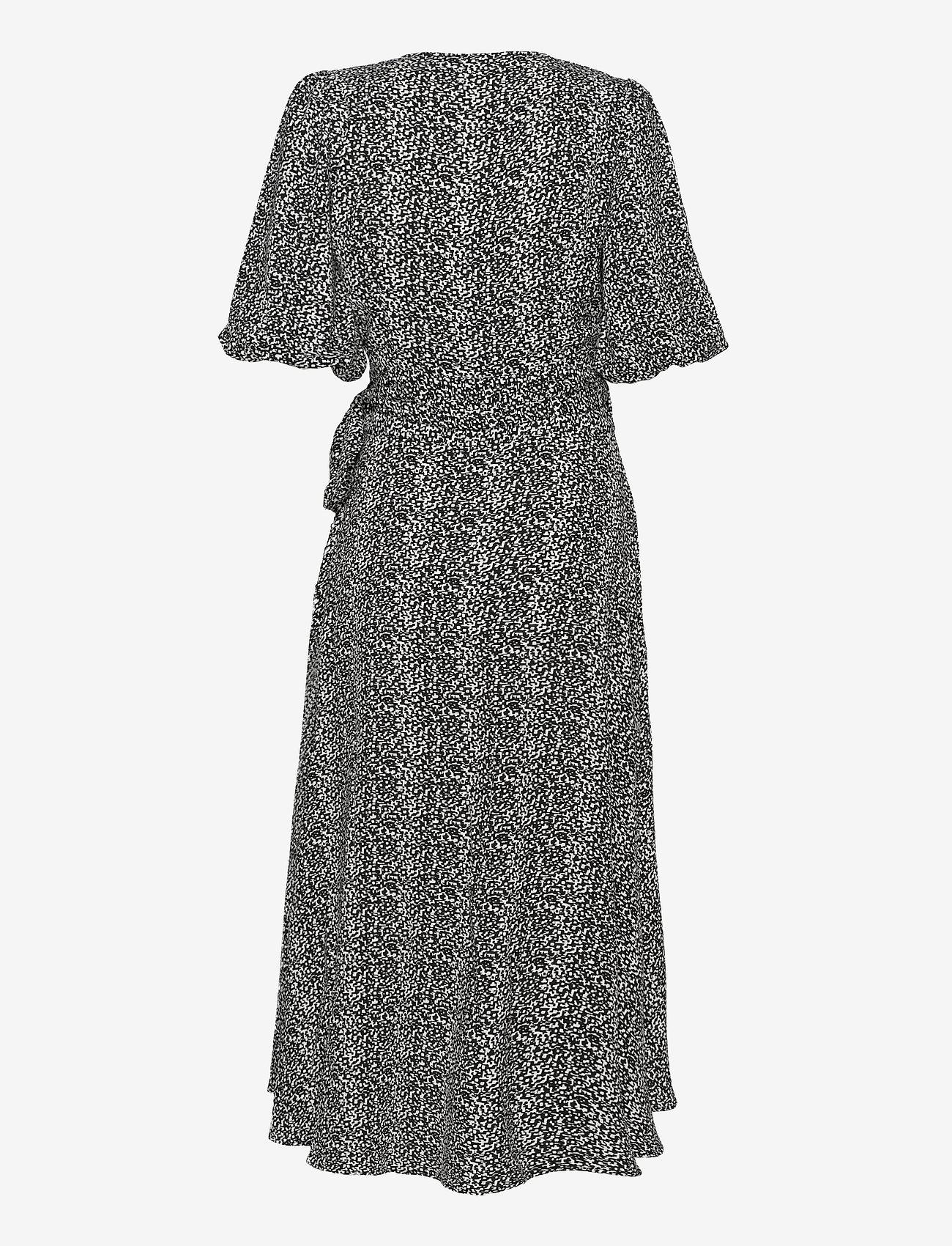 Notes du Nord - River Recycled Wrap Dress - omlottklänningar - pixel - 1