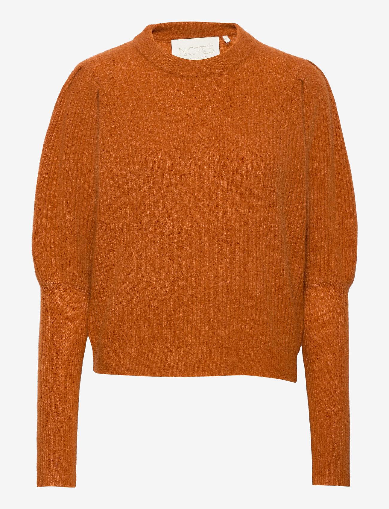 Notes du Nord - Rhonda Blouse - tröjor - burnt orange - 0