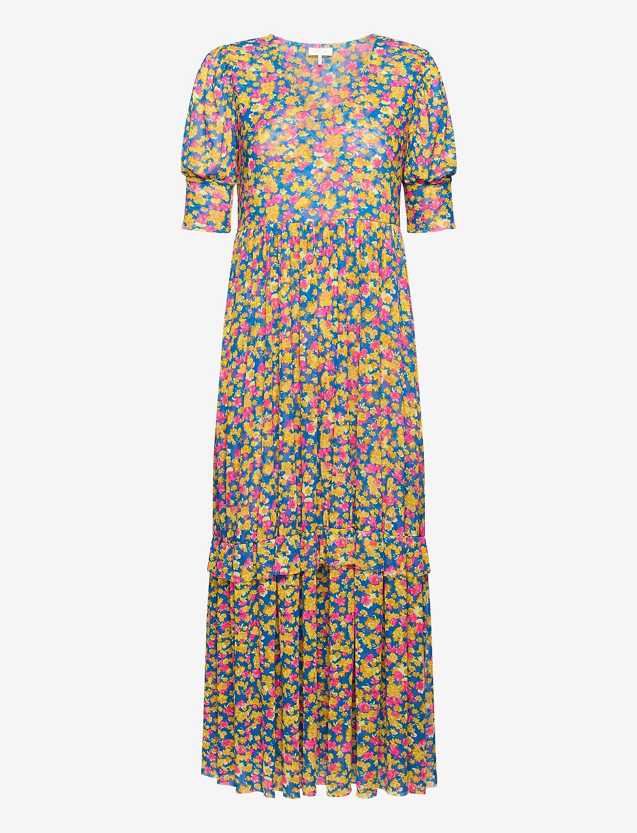 Notes du Nord - Pearl Dress - midiklänningar - pink flower - 0