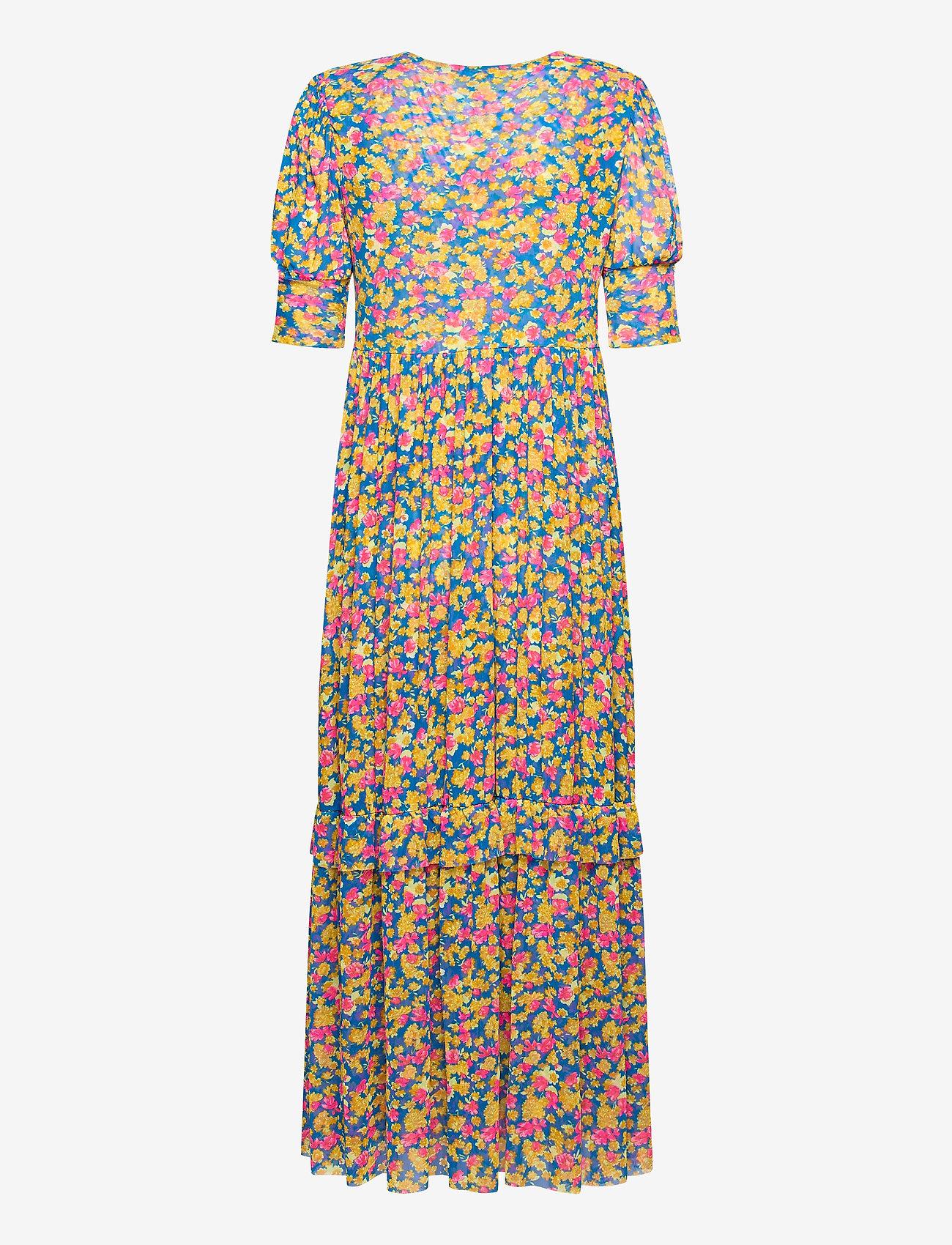 Notes du Nord - Pearl Dress - midiklänningar - pink flower - 1