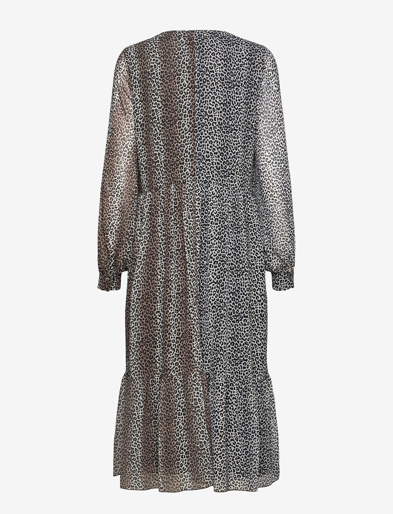 Notes du Nord - Sophie Recycled Dress - vardagsklänningar - leopard - 1