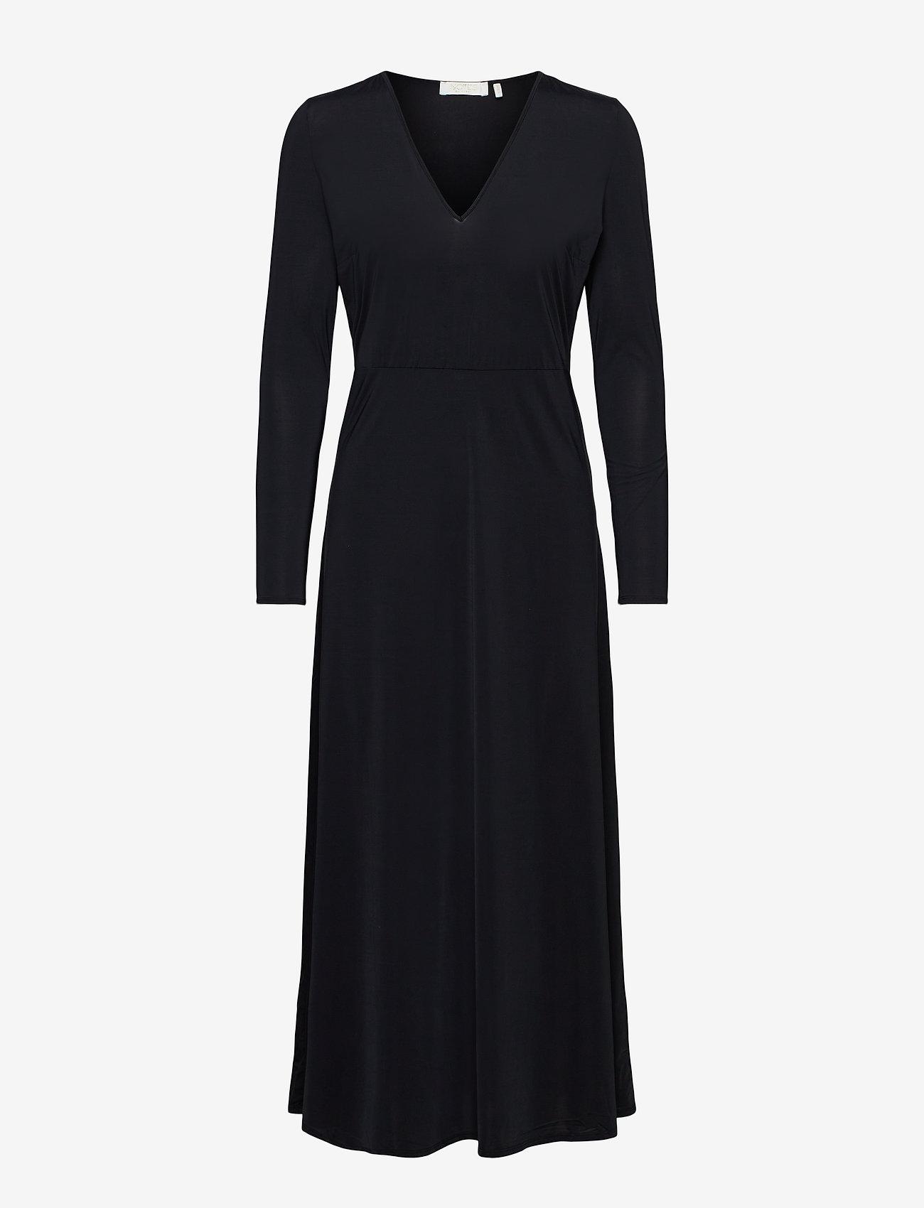 Notes du Nord - Melanie V-Neck Dress - kveldskjoler - noir - 0