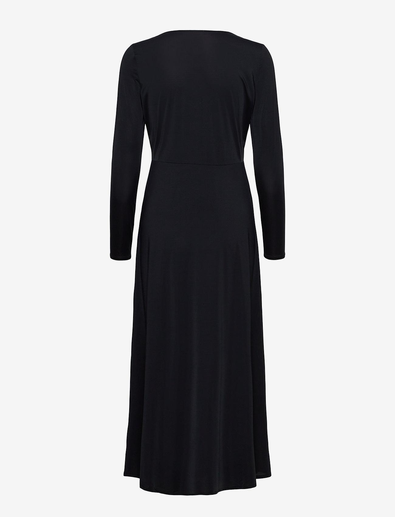 Notes du Nord - Melanie V-Neck Dress - kveldskjoler - noir - 1
