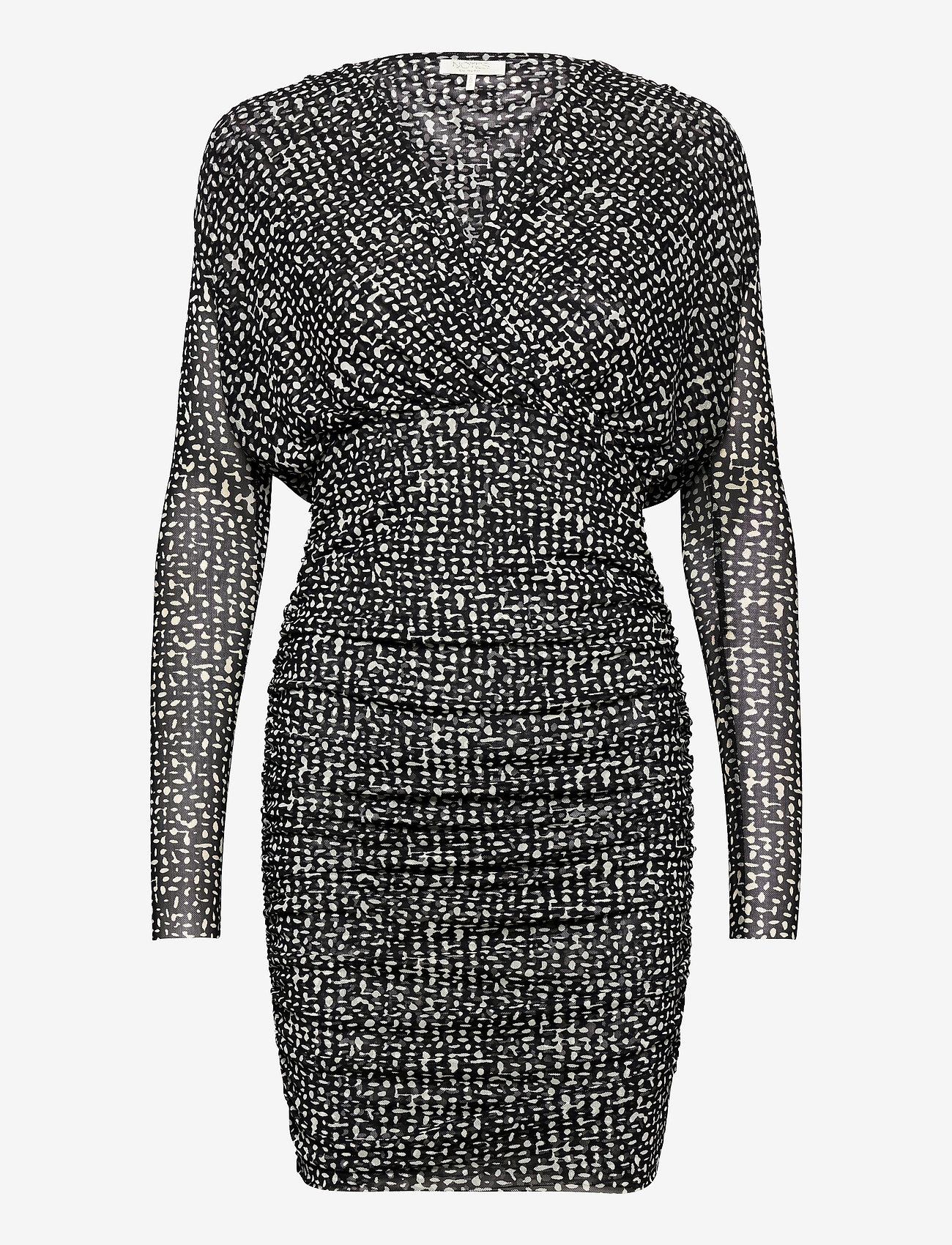 Notes du Nord - Samia Short Dress - fodralklänningar - graphic dot - 0