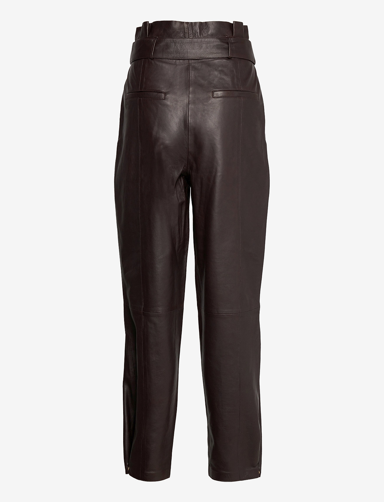 Notes du Nord - Sydney Leather Pants - skinnbyxor - dark chocolate - 1