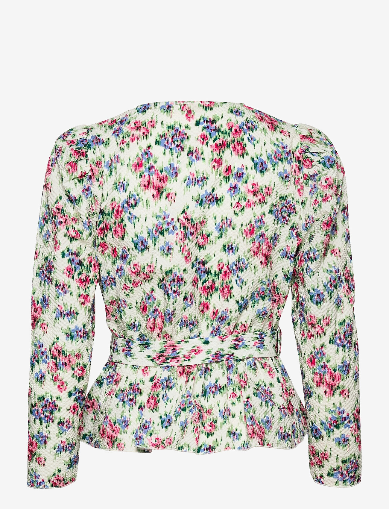 Notes du Nord - Shelly Flower Wrap Blouse - långärmade blusar - flower  dream - 1