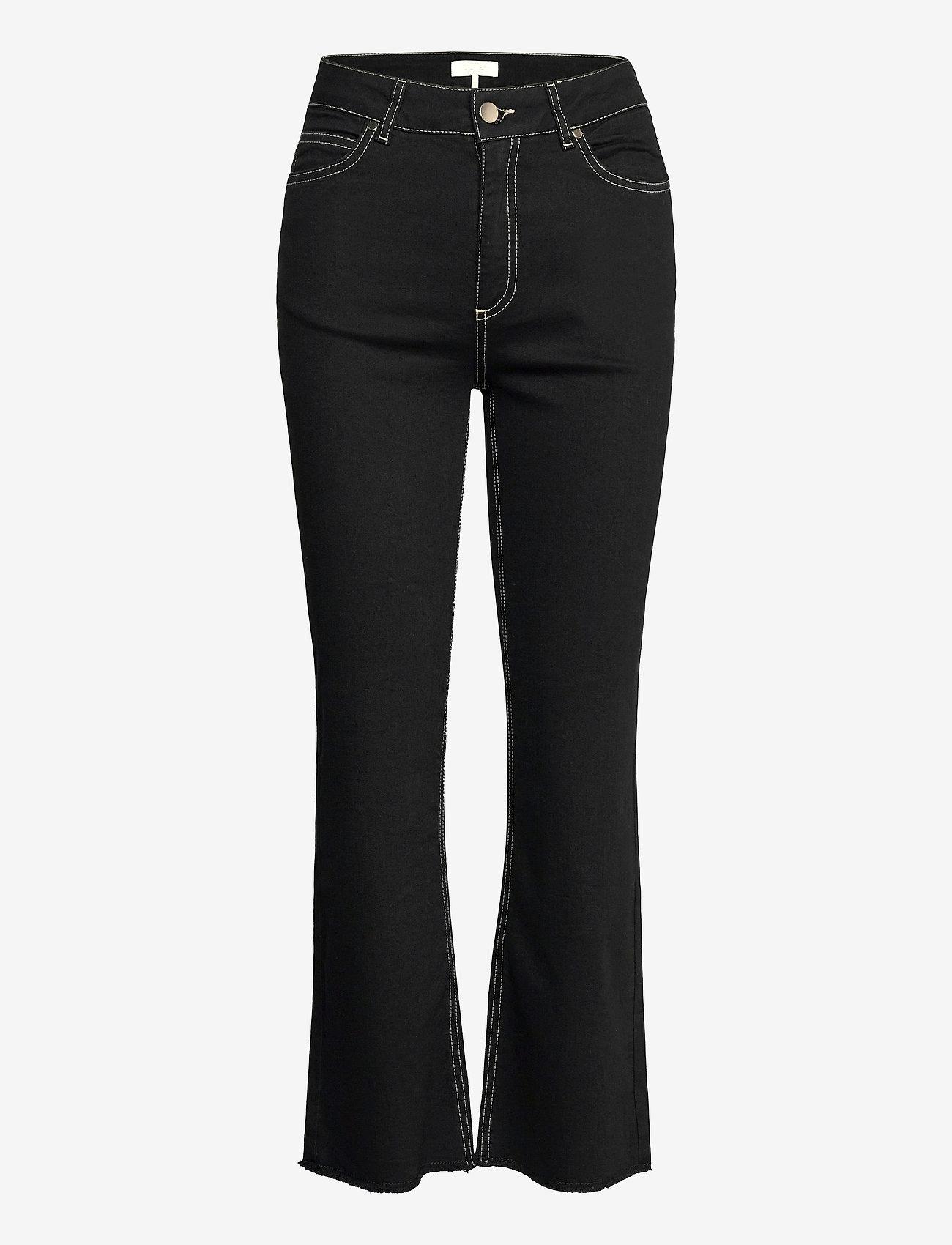 Notes du Nord - Selina Noir Cropped Jeans - utsvängda jeans - noir - 0