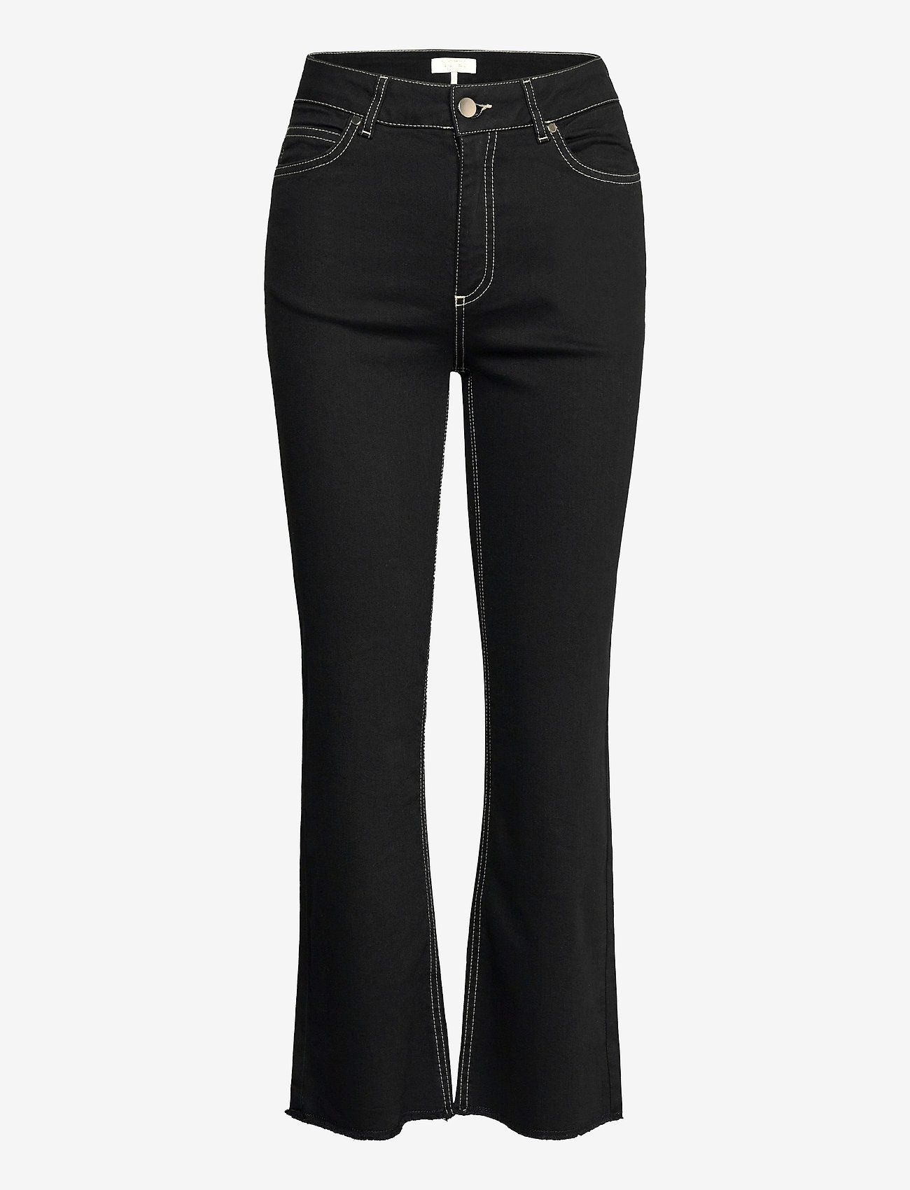 Notes du Nord - Selina Noir Cropped Jeans - schlaghosen - noir - 0