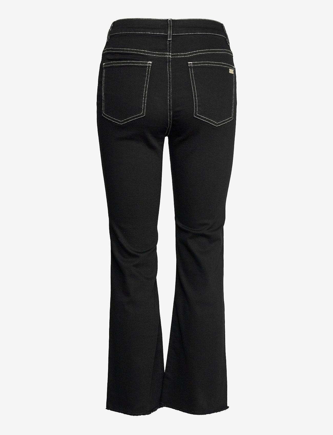 Notes du Nord - Selina Noir Cropped Jeans - utsvängda jeans - noir - 1