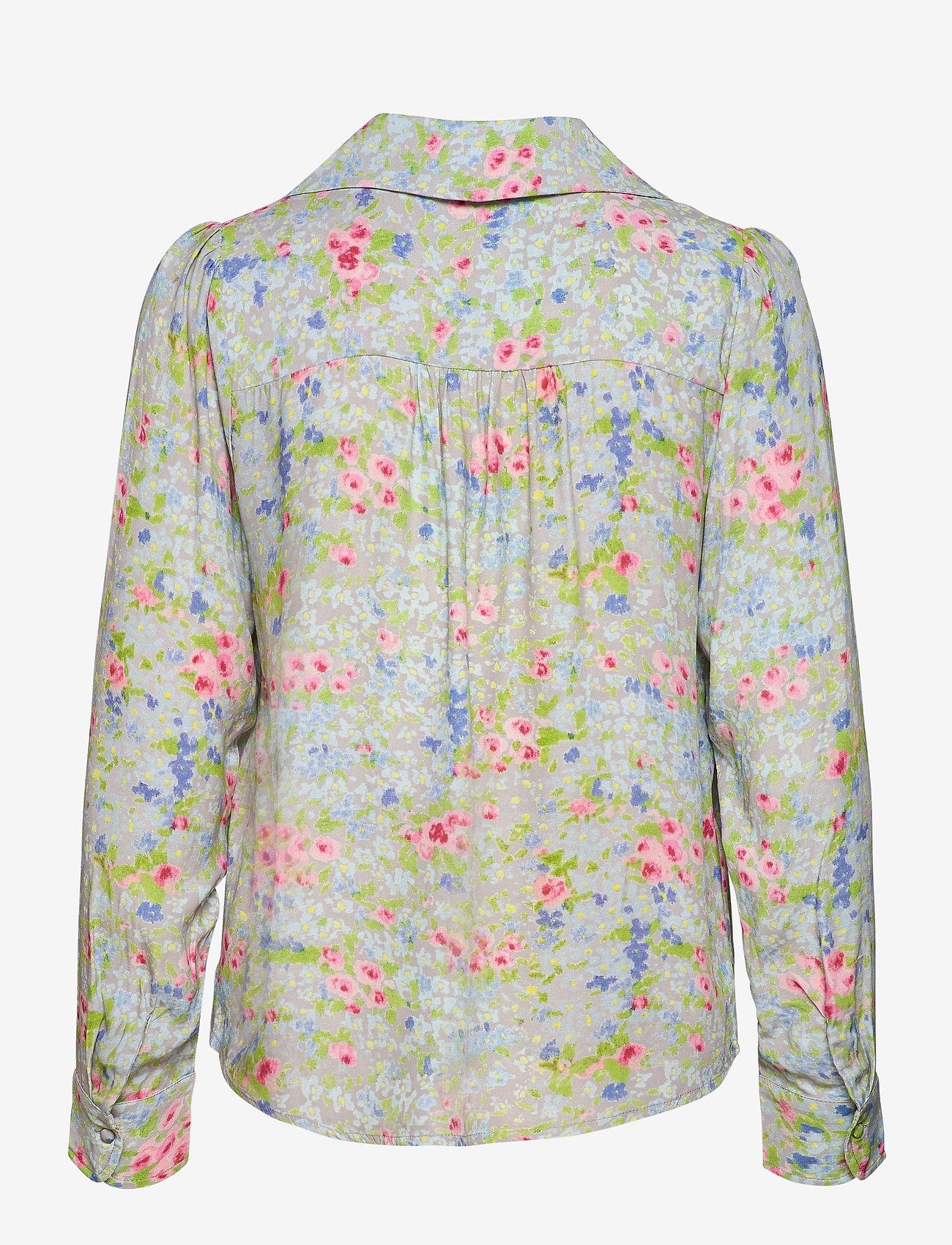 Notes du Nord - Samantha Flower Shirt - långärmade skjortor - romantic flower - 1