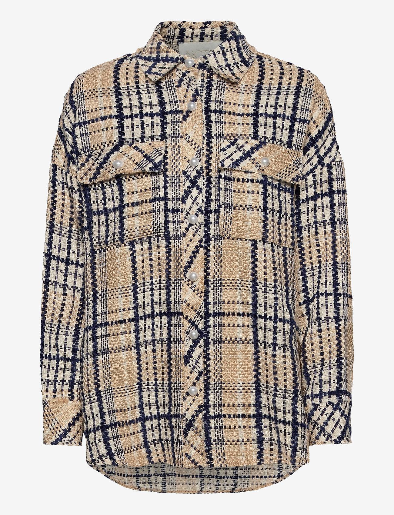 Notes du Nord - Soul Shirt - overshirts - navy check - 0