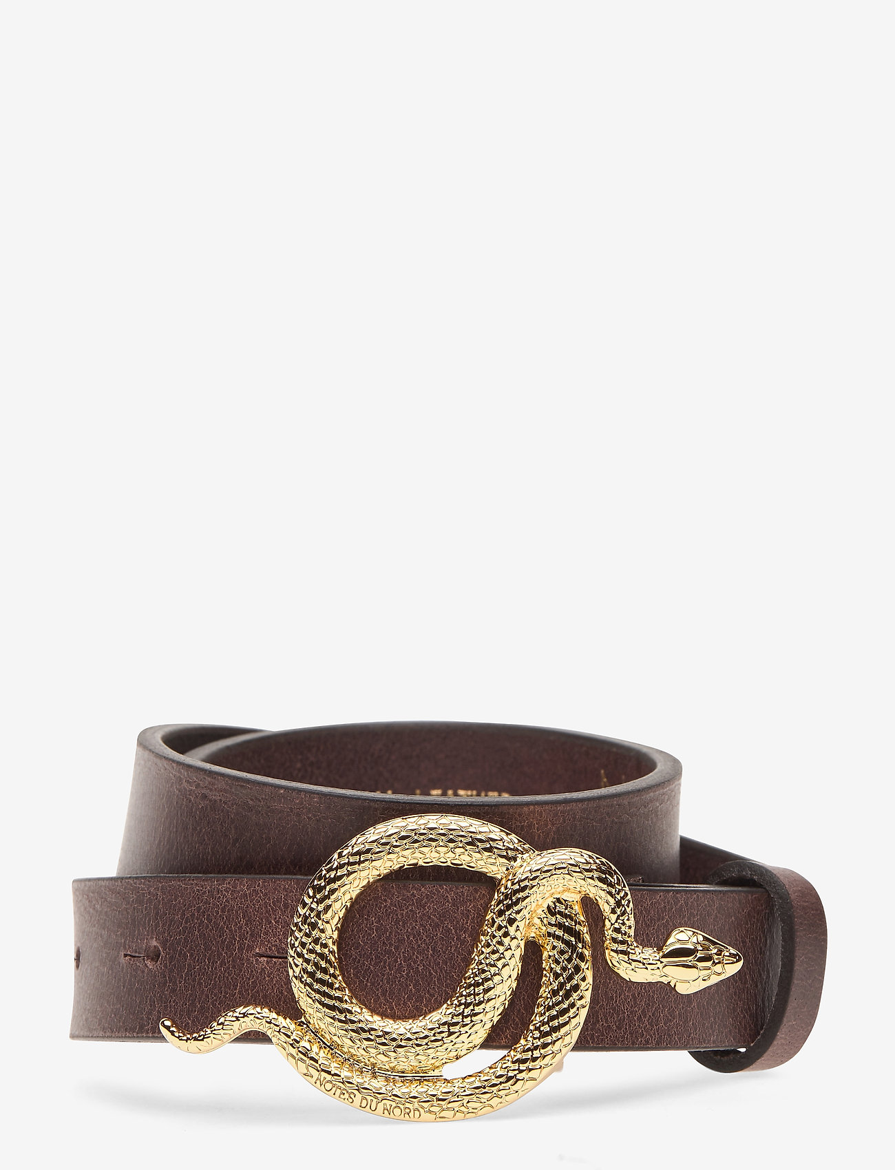 Notes du Nord - Paxton Leather Belt - skärp - chocolate/gold - 0