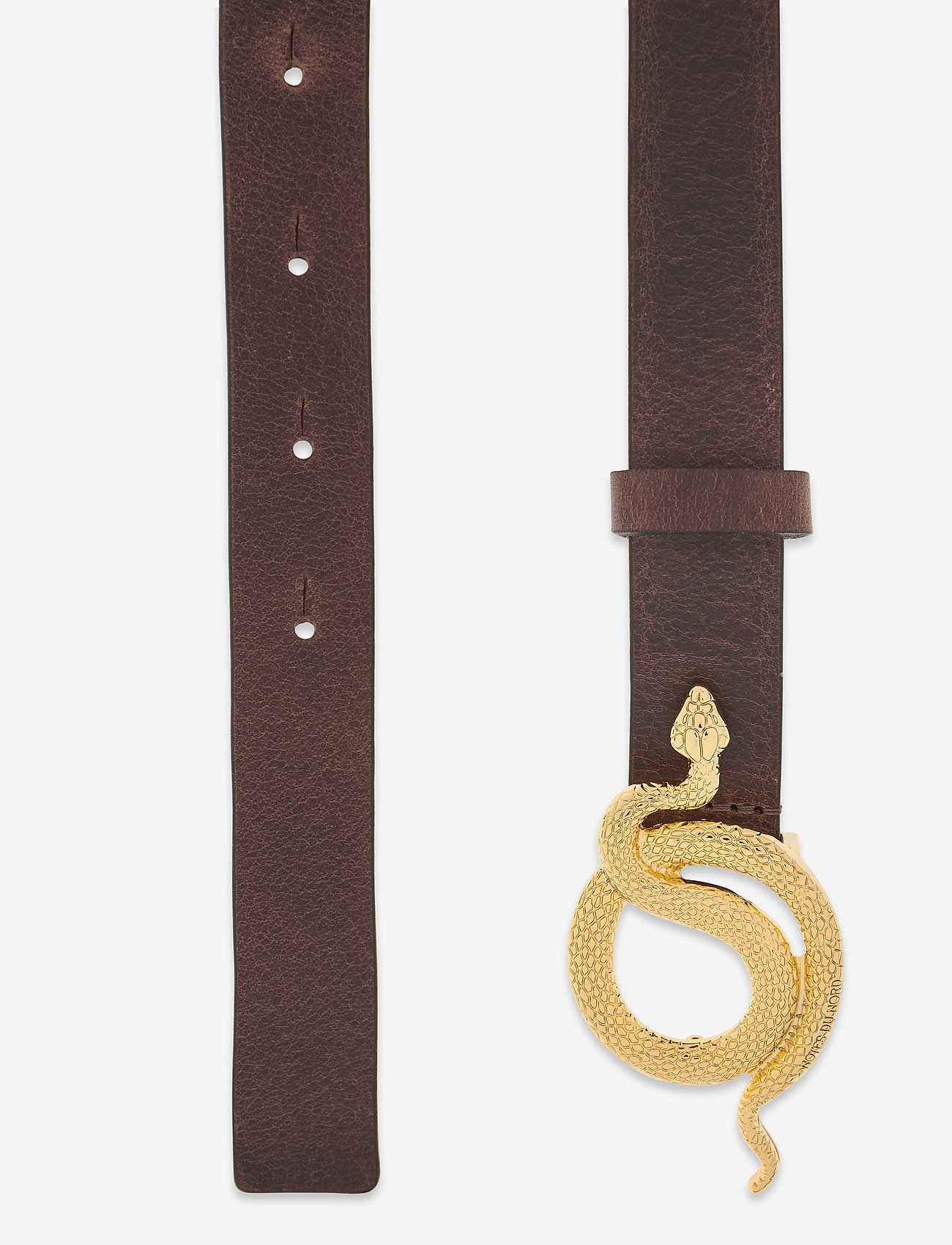 Notes du Nord - Paxton Leather Belt - skärp - chocolate/gold - 1