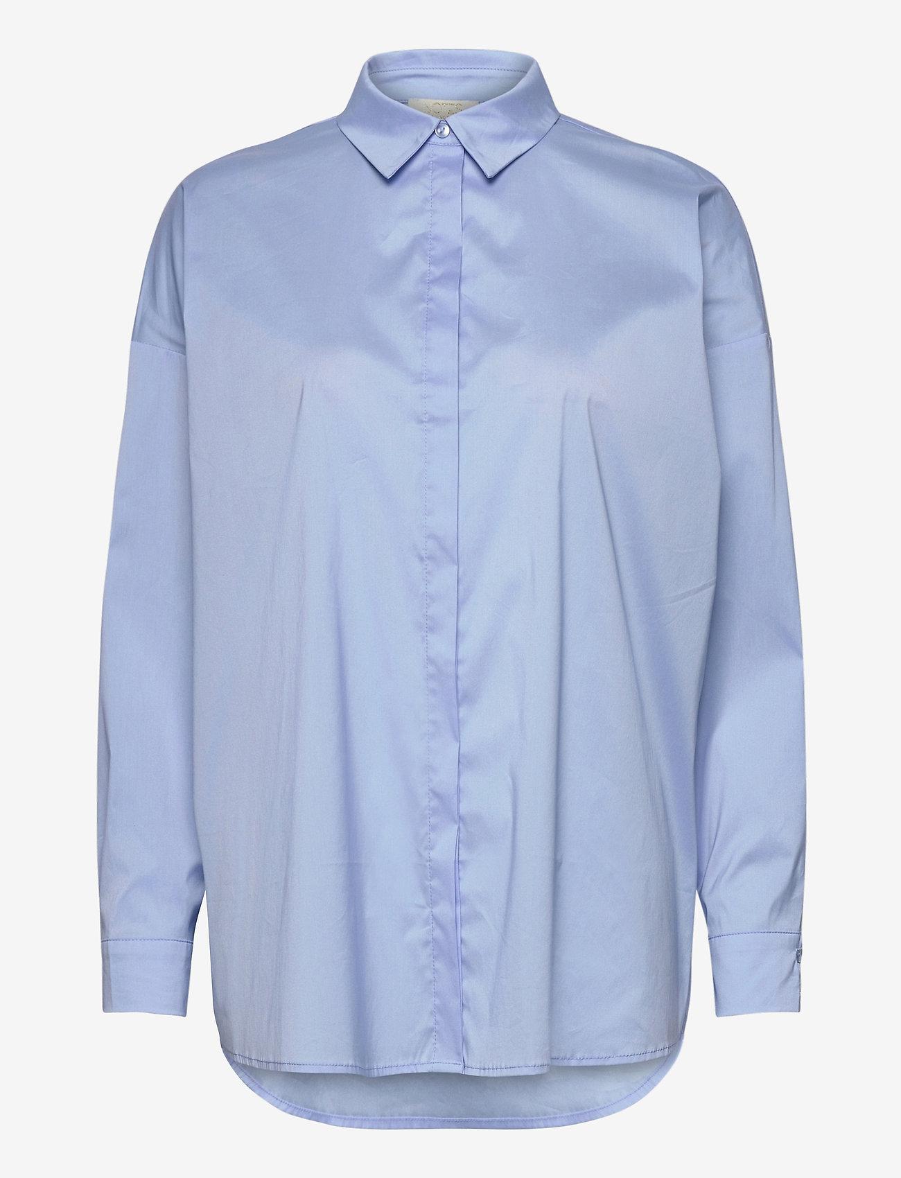 Notes du Nord - Kira Shirt X - långärmade skjortor - blue sky - 0