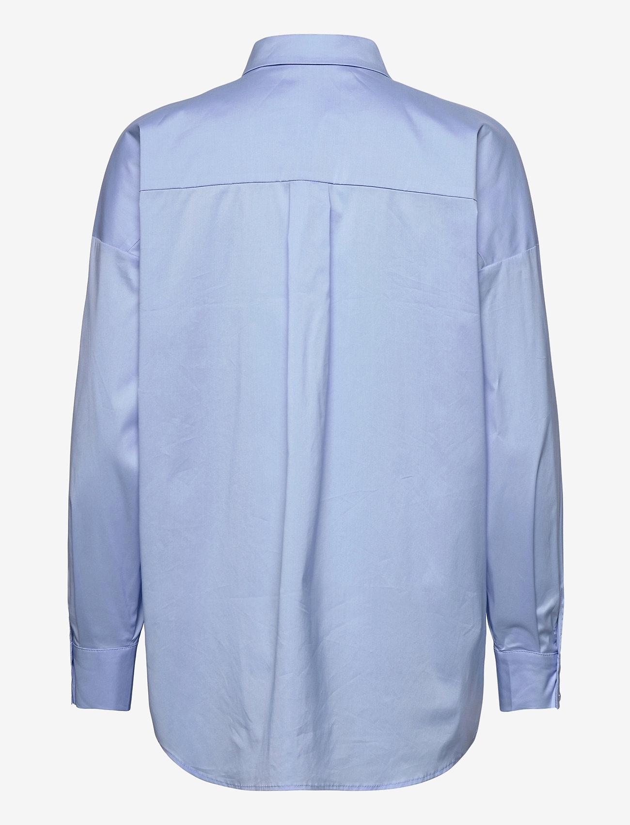 Notes du Nord - Kira Shirt X - långärmade skjortor - blue sky - 1
