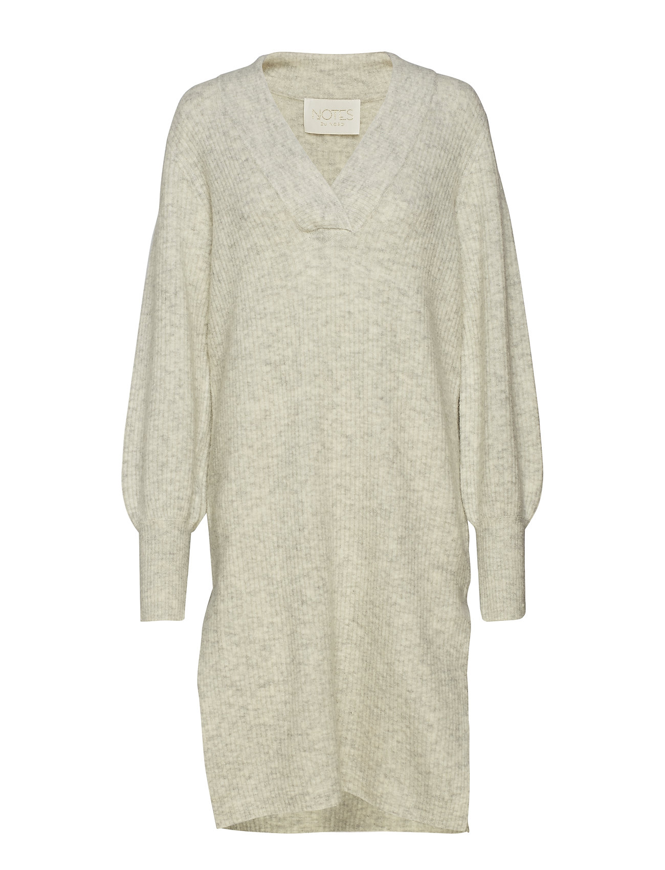 Notes du Nord Iris Dress - LIGHT GREY MELANGE