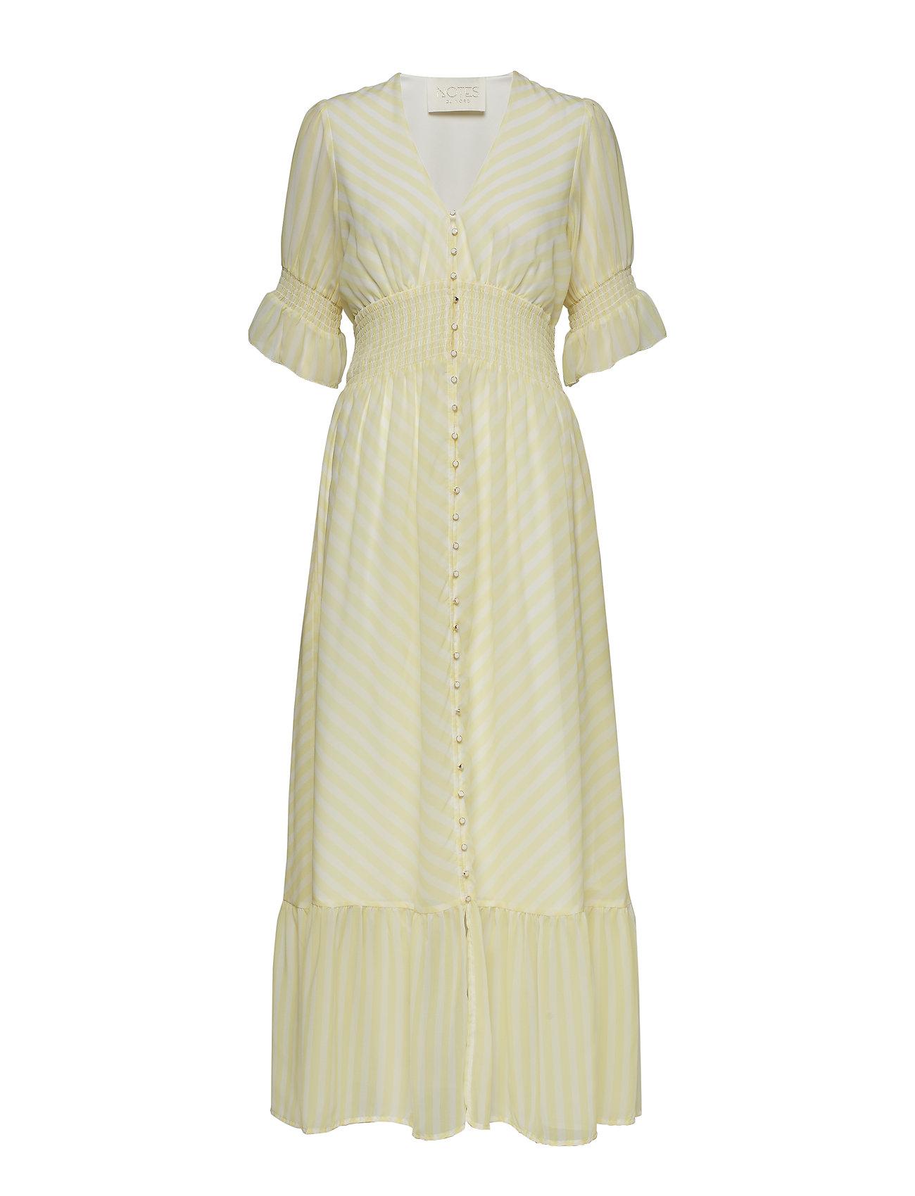Notes du Nord Kennedy Maxi Dress - LEMON STRIPE